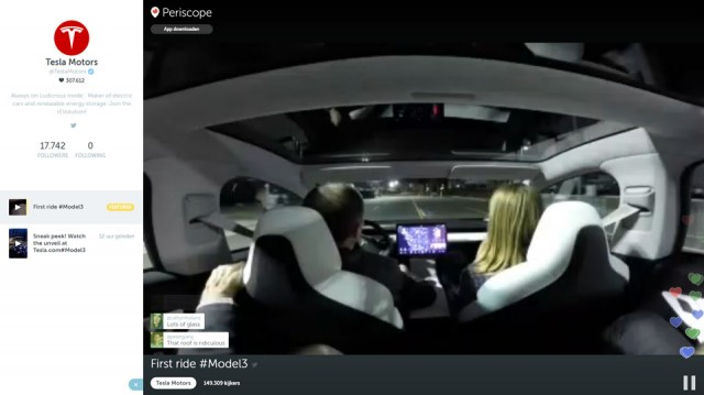 Tesla first ride model 3